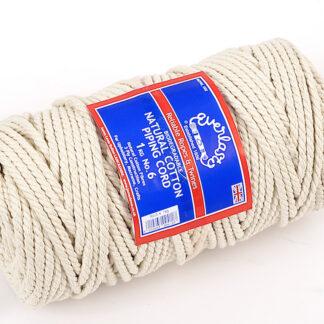 No.6 (6mm) Natural Cotton Piping Cords