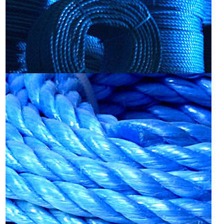 Blue Polypropylene Ropes