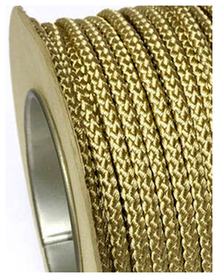 Braided Polyester Cord Gold
