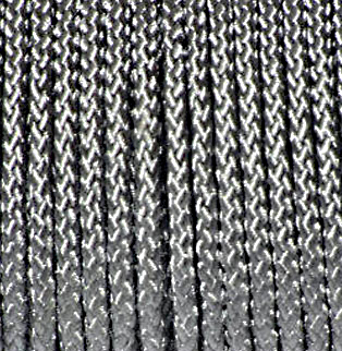 Braided Polyester Cord Silver