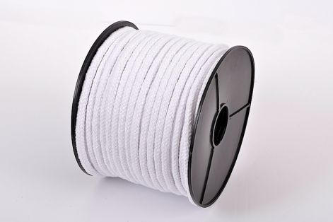 5mm Bleached Braided Cotton Piping Cord